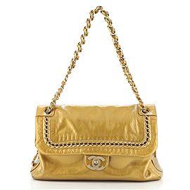 Chanel Luxe Ligne Flap Bag Patent Large