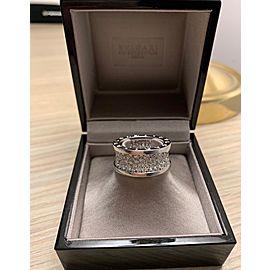 Bulgari B.zero1 18K White Gold Diamond Ring Size 6.5