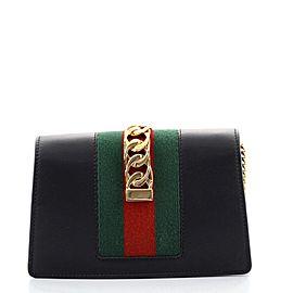 Gucci Sylvie Chain Shoulder Bag Leather Super Mini
