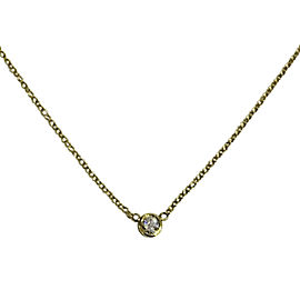 Tiffany & Co. Elsa Peretti 18K Yellow Gold with 0.14ctw. Diamonds By The Yard Pendant Necklace