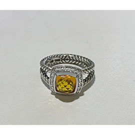 David Yurman Petite Albion Ring with Citrine and Diamonds