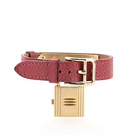Hermes Kelly Quartz Watch Leather with Gold Hardware 20