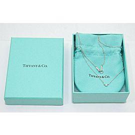 Tiffany & Co. 950 Platinum Elsa Peretti Diamond By The Yard Necklace