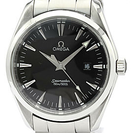 Polished OMEGA Seamaster Aqua Terra Steel Quartz Mens Watch 2517.50