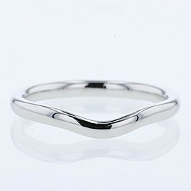 "TIFFANY & Co PlatinumPT950 Curved band 0.1 ""wide Ring TBRK-521"