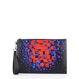 Gucci Wristlet Zipped Pouch Printed Coated Canvas Medium
