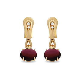 Bulgari 18K Yellow Gold Rublite Earrings