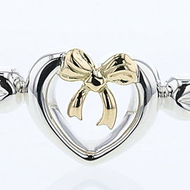 TIFFANY & Co. silver/18k yellow Gold Heart ribbon Bangle