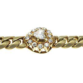 2.25 Carat Diamond Heart and 18 Karat Gold Bracelet