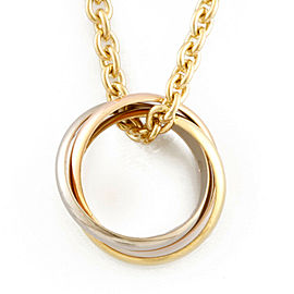 CARTIER 18K yellow goldx18K white goldx18K Pink Gold Trinity Necklace CHAT-243