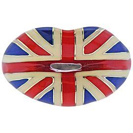 Solange Azagury Partridge Union Jack Enamel Silver Lips Ring