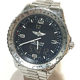 BREITLING A56012.1 Stainless Steel Chrono Space Wrist watch RSH-866
