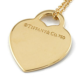 TIFFANY&Co. 18K yellow Gold Diamonds Return to Heart Necklace CHAT-347