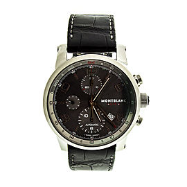 MontBlanc Timewalker Automatic Chronograph Anthracite Dial Mens Watch