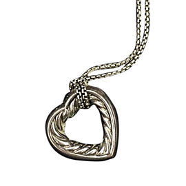 David Yurman Sterling Silver Heart Pendant Necklace