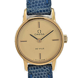 OMEGA de vill Gold Dial Cal.625 Hand Winding Ladies Watch