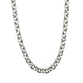 Platinum Escargot Design Chain Necklace