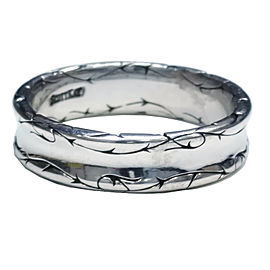 Scott Kay 18K White Gold Sparta Band Ring Size 10.5