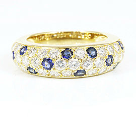 Cartier 18K Yellow Gold Diamond Sapphire Pave Mimi Ring CHAT-137