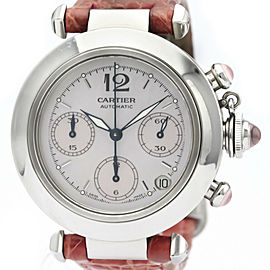 CARTIER Pasha C Chronograph Christmas LTD Watch W3106599 Polished
