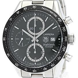 Polished TAG HEUER Carrera Highland Scotland Chronograph Watch CV2012