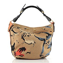 Christian Dior DiorAvenue Bucket Bag Embroidered Canvas Small