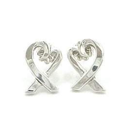 TIFFANY & Co. Sterling Silver Paloma Picasso Loving Heart Earrings
