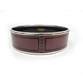Hermes Enamel Cloisonne And Palladium Bangle Bracelet