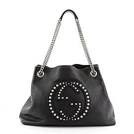 Gucci Soho Chain Strap Shoulder Bag Studded Leather Medium