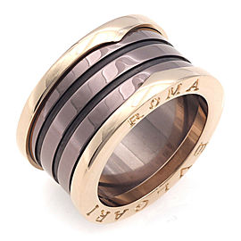 BVLGARI 18K Pink Gold B.zero1 4-band metal Ring CHAT-944
