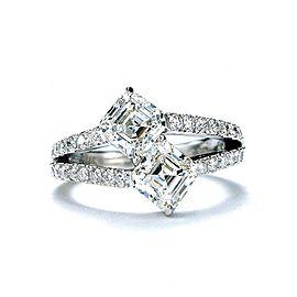 Daniel K Asscher Platinum & 1.71ct Diamond Ring Size 5.5