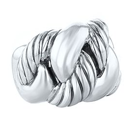 David Yurman Silver 925 Belmont Curb Link Ring SIze 7