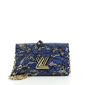 Louis Vuitton Twist Chain Wallet Limited Edition Lace Embossed Calfskin
