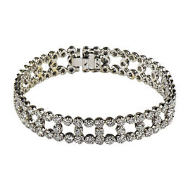 18K White Gold 7.15ct Diamond Tennis Bracelet