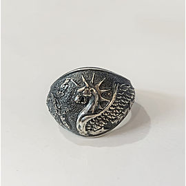 David Yurman Griffin Dragon Silver Ring