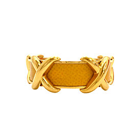 HERMES Gold Tone/Metallic Cross Motif Bracelet