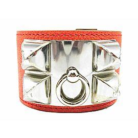 HERMES Leather Medor Collier de Chien Bangle Bracelet