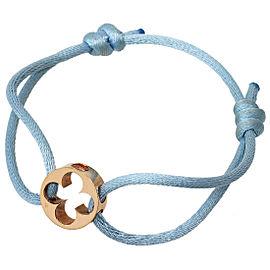 Louis Vuitton 18K Rose Gold Empreinte Cotton Cord Bracelet