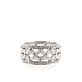 Tiffany & Co. Victoria Band Ring Platinum with Diamonds size 6.5 6.5