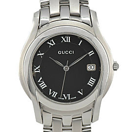 GUCCI 5500M black Dial Stainless Steel Quartz Men's Watch