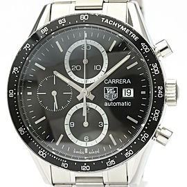 TAG HEUER Carrera Chronograph Steel Automatic Watch CV2010 #HK-387