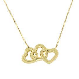 Tiffany & Co. 18K Yellow Gold Triple Interlocking Heart Necklace