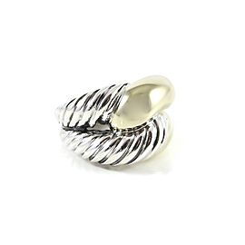 David Yurman Sterling Silver 14K Yellow Gold Large Infinity Knot Ring