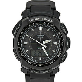 CASIO Protolec PRW-5100-1JF Black Dial Solar Powered Radio Men's Watch