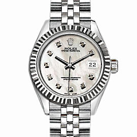 Rolex Datejust Stainless Steel with White MOP Dial 36mm Mens Watch