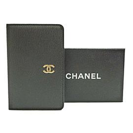 CHANEL Leather CC Logo Mini Agenda Day Planner
