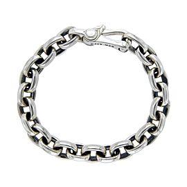 David Yurman 925 Sterling Silver Oval Chain Bracelet