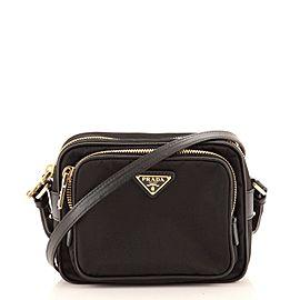 Prada Front Pocket Crossbody Bag Tessuto Mini