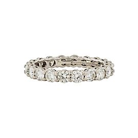 Tiffany & Co. Platinum with 1.80ct. Diamond Eternity Band Ring Size 5.5
