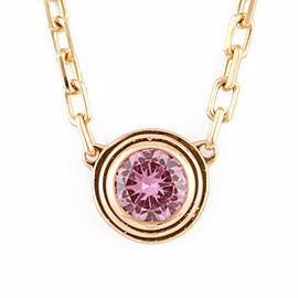 CARTIER 18K Pink Gold Pink sapphire Necklace CHAT-242